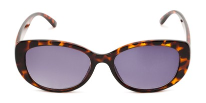 Front of The Firefly Reading Sunglasses in Brown Tortoise with Smoke