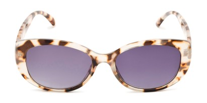 Front of The Firefly Reading Sunglasses in Tan Tortoise with Smoke