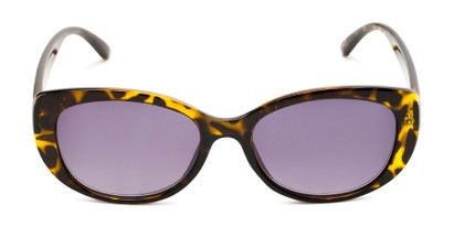 Front of The Firefly Reading Sunglasses in Yellow Tortoise with Smoke