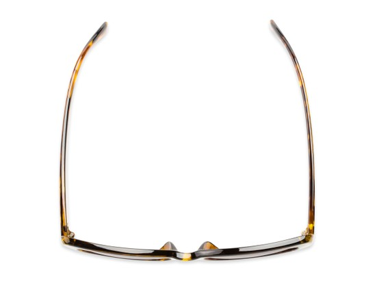 Overhead of The Firefly Reading Sunglasses in Yellow Tortoise with Smoke