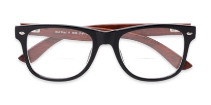 recycled wood bifocal readers