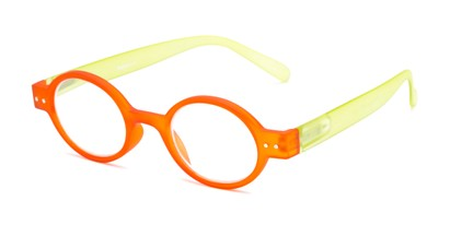 Angle of The Flamingo in Orange/Green, Women's and Men's Round Reading Glasses