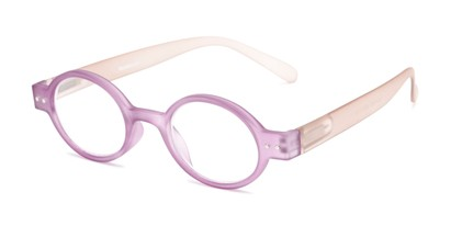 Angle of The Flamingo in Purple/Grey, Women's and Men's Round Reading Glasses