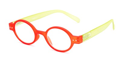 Angle of The Flamingo in Red/Green, Women's and Men's Round Reading Glasses