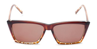 Front of The Flax Reading Sunglasses in Brown/Tortoise with Amber