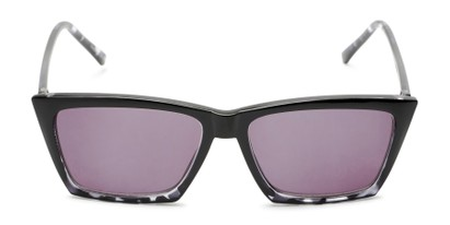 Front of The Flax Reading Sunglasses in Black/Grey Tortoise with Smoke