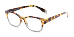 Angle of The Florian Bifocal in Tortoise/Grey, Women's and Men's Rectangle Reading Glasses