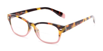 Angle of The Florian Bifocal in Tortoise/Pink, Women's and Men's Rectangle Reading Glasses