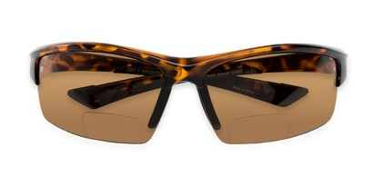 Folded of The Foster Bifocal Reading Sunglasses in Tortoise with Amber