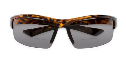 Folded of The Foster Bifocal Reading Sunglasses in Tortoise with Smoke
