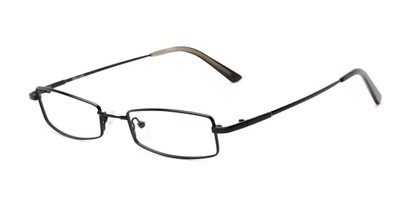 Angle of Fox Hill by felix + iris in Black, Women's and Men's Rectangle Reading Glasses