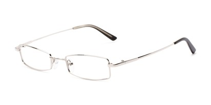 Angle of Fox Hill by felix + iris in Matte Silver, Women's and Men's Rectangle Reading Glasses