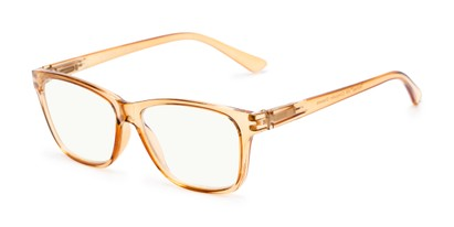 Angle of The Francis Computer Reader in Orange, Women's and Men's Retro Square Reading Glasses