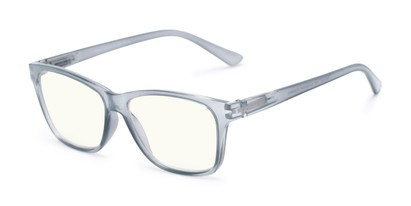 Angle of The Francis Computer Reader in Grey, Women's and Men's Retro Square Reading Glasses