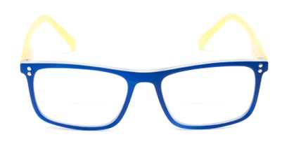 Front of The Frannie Bifocal in Cobalt Blue/Yellow