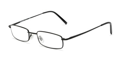 Angle of The Freeland in Matte Black, Women's and Men's Rectangle Reading Glasses