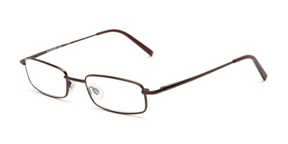 Angle of The Freeland in Glossy Brown, Women's and Men's Rectangle Reading Glasses