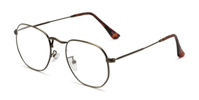 Angle of The Frenchie in Bronze, Women's and Men's Round Reading Glasses