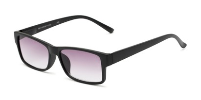 Angle of The Fuller Reading Sunglasses in Matte Black with Smoke, Women's and Men's Rectangle Reading Sunglasses