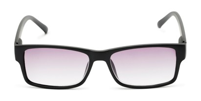 Front of The Fuller Reading Sunglasses in Matte Black with Smoke