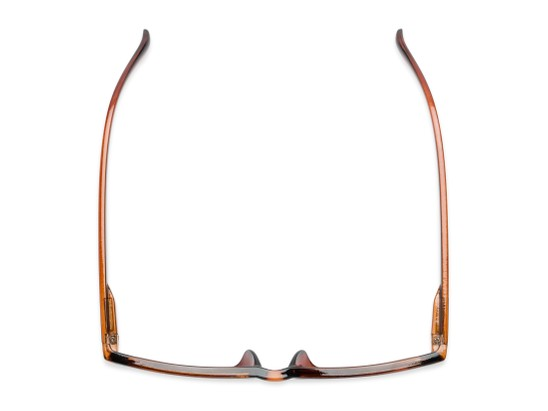 Overhead of The Fuller Reading Sunglasses in Glossy Brown with Smoke