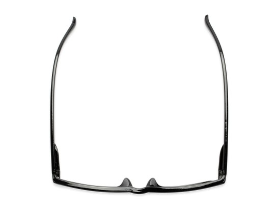 Overhead of The Fuller Reading Sunglasses in Glossy Black with Smoke