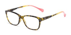 Angle of The Garden in Tortoise/Pink, Women's and Men's Retro Square Reading Glasses