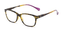 Angle of The Garden in Tortoise/Purple, Women's and Men's Retro Square Reading Glasses