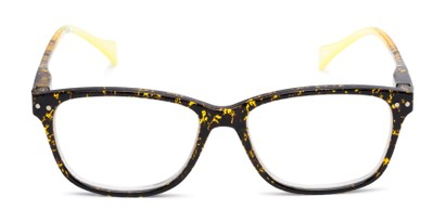 large retro square two tone womens reading glasses