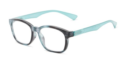 Angle of The Garland in Blue, Women's and Men's Retro Square Reading Glasses
