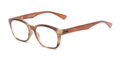 Angle of The Garland in Brown, Women's and Men's Retro Square Reading Glasses