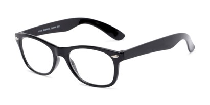 Angle of The Gatsby in Black, Women's and Men's Retro Square Reading Glasses
