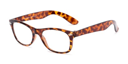Angle of The Gatsby in Tortoise, Women's and Men's Retro Square Reading Glasses