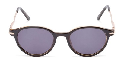 Front of The Geller Reading Sunglasses in Brown/Gold with Smoke