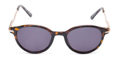 Front of The Geller Reading Sunglasses in Tortoise/Gold with Smoke
