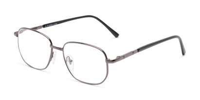 Angle of The Georgetown in Grey, Women's and Men's Square Reading Glasses