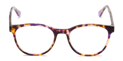 Front of The Getty Signature Reader in Purple/Brown Tortoise