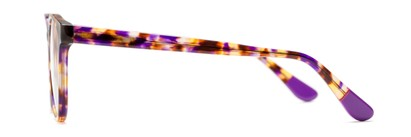 Side of The Getty Signature Reader in Purple/Brown Tortoise