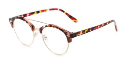 Angle of The Gillespie in Red Tortoise, Women's Browline Reading Glasses