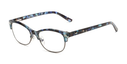 Angle of The Gillian - Foster Grant for Readers.com in Blue Tortoise, Women's and Men's