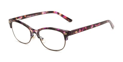 Angle of The Gillian - Foster Grant for Readers.com in Purple Tortoise, Women's and Men's