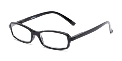 Angle of The Gleela in Black, Women's and Men's Rectangle Reading Glasses