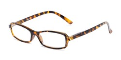 Angle of The Gleela in Tortoise, Women's and Men's Rectangle Reading Glasses