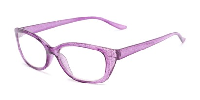 Angle of The Glitzy in Light Purple, Women's Cat Eye Reading Glasses