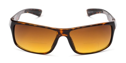Front of The Gordon High Density Bifocal Driving Reader in Tortoise with Amber