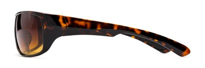 Side of The Gordon High Density Bifocal Driving Reader in Tortoise with Amber