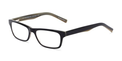 Angle of The Grand Customizable Reader in Black/Olive Green, Women's and Men's Retro Square Reading Glasses