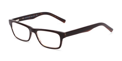Angle of The Grand Customizable Reader in Brown/Tortoise, Women's and Men's Retro Square Reading Glasses