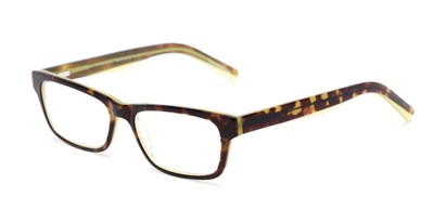 Angle of The Grand Customizable Reader in Tortoise/Lime Green, Women's and Men's Retro Square Reading Glasses