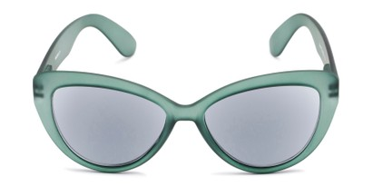 Front of The Greer Reading Sunglasses in Dark Matte Green